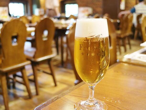 黄金比率 ビール:泡=7:3