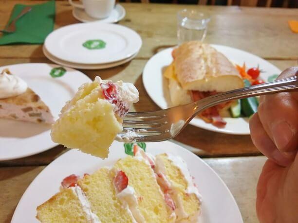 イチゴのかわいいケーキ