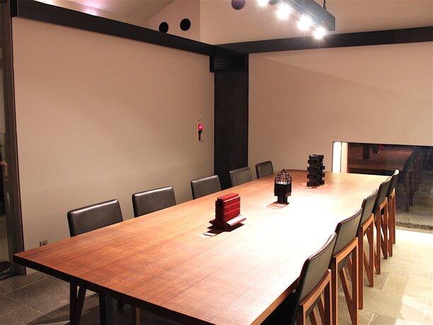 カフェスペースの展示