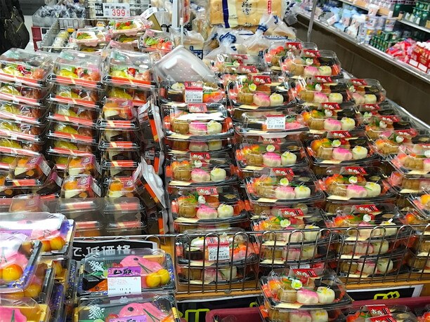 大量の口取り菓子