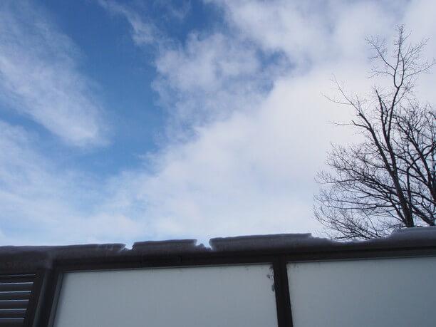 風呂から見える青空