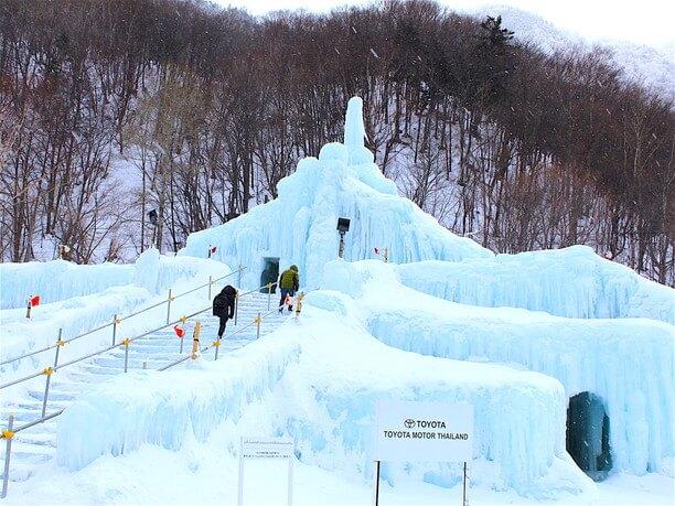 大きな氷柱