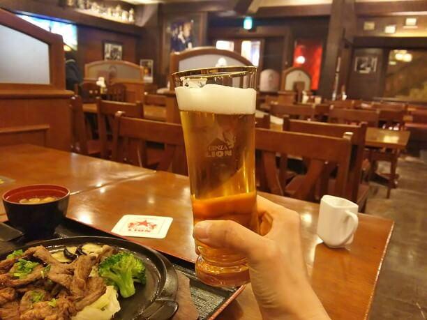 お店のビール
