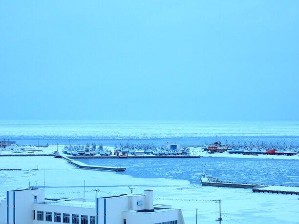 流氷の季節のオホーツク海
