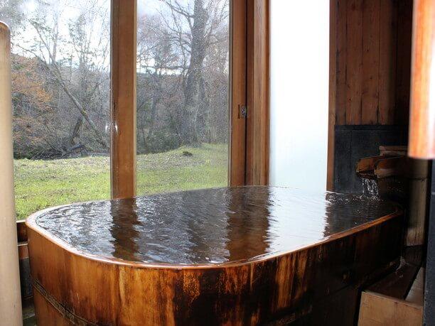 檜風呂の「月の湯」