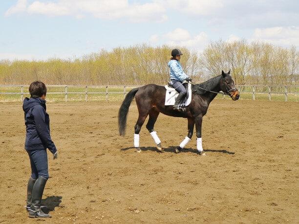 乗馬体験中2