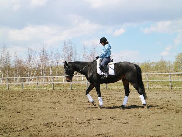 乗馬体験中3