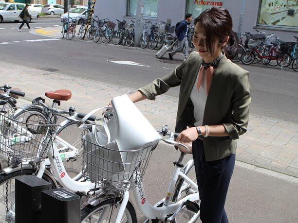 自転車を出庫