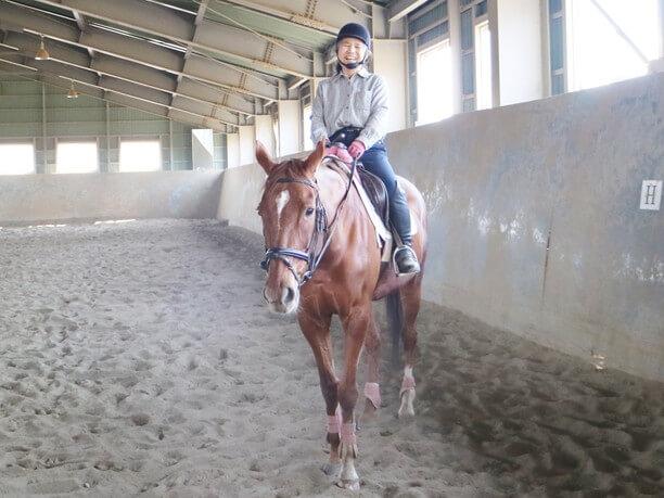 乗馬体験中4