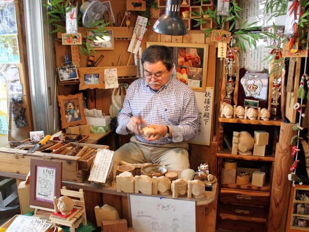 木彫りのお店
