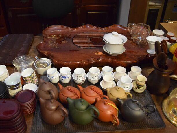 かわいらしいサイズの茶器