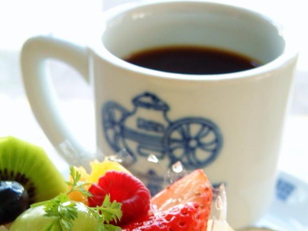 香り高く、苦みと酸味のバランスがよいのコーヒー