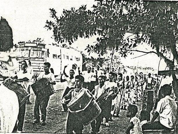愛知エイサー(宜野湾市愛知青年会:1960年旧暦7月16日)