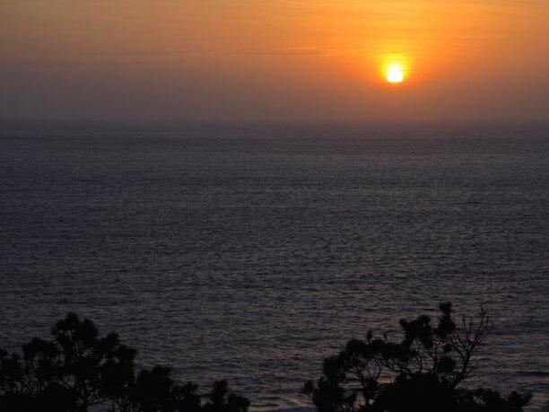 神の浜展望台からのサンセット