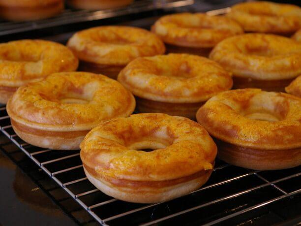 玄米粉を使ったドーナツ