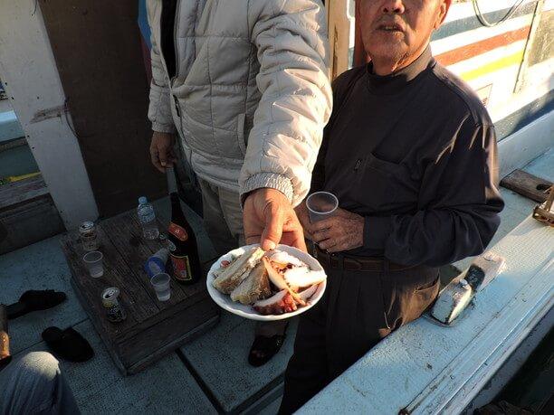 蛸や豚肉を使った料理