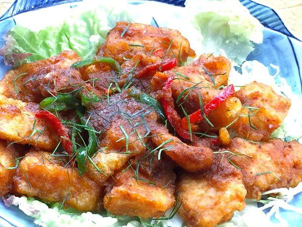 魚唐揚げ特製ソース