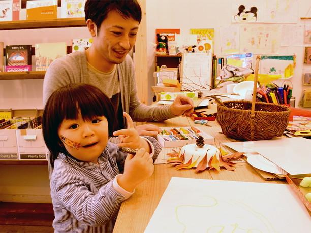 京都からの親子連れ