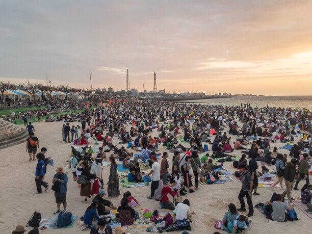 琉球海炎祭開催当日のトロピカルビーチ