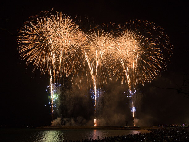 JAL PRESENTS 琉球海炎祭の花火