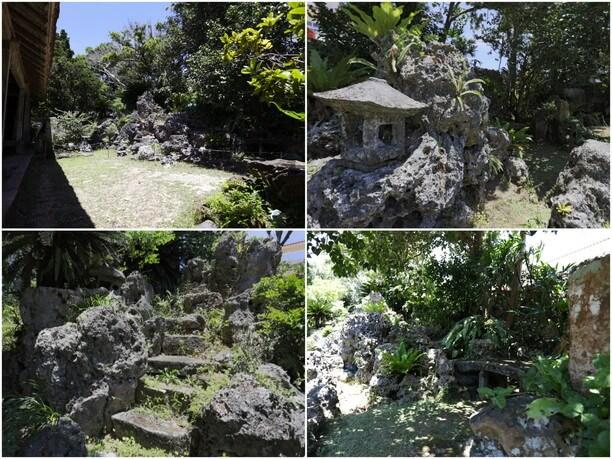 母屋の脇に広がる庭園