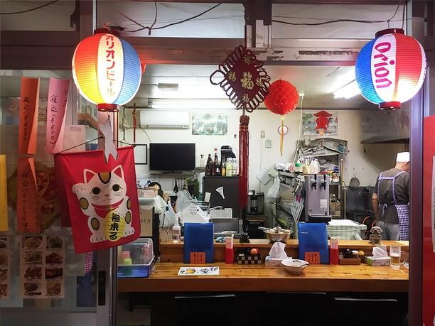 沖縄らしいオリオンビールの提灯