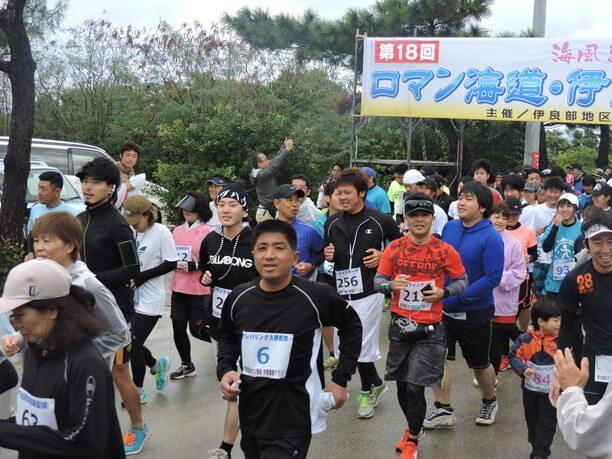 冬の風物詩のマラソン大会「ロマン海道・伊良部島マラソン」