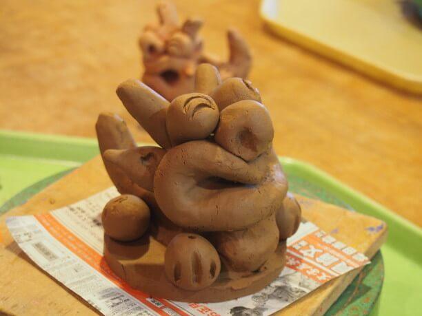 100%久米島さん粘土で作るシーサー