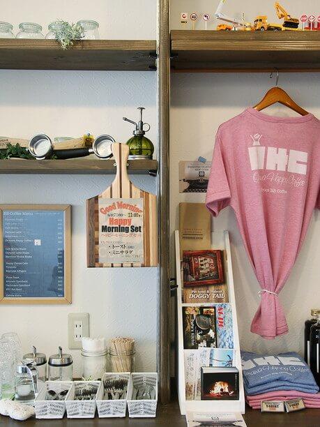 珈琲豆やTシャツなどのオリジナル商品