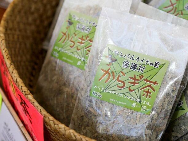 クスノキ科のオキナワニッケイの茶葉を乾燥させたカラギ茶