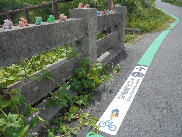 緑色のライン