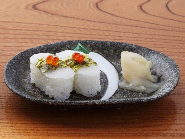 甘酢昆布が特徴の亀戸大根寿司